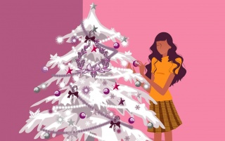 Christmas Girl wallpapers and stock photos