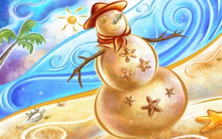 Sand Snowman wallpapers and stock photos