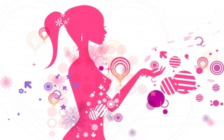 Vector Girl wallpapers and stock photos