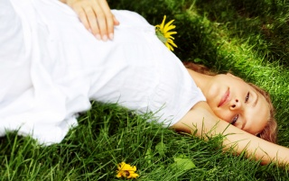 Lying in Grass wallpapers and stock photos
