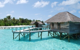 Maldives bungalow wallpapers and stock photos