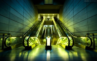 Escalators wallpapers and stock photos
