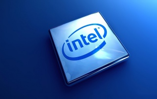 Intel 3D Logo wallpapers and stock photos