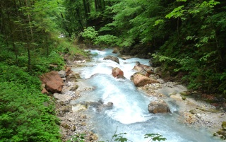 River near Berchtesgaden wallpapers and stock photos