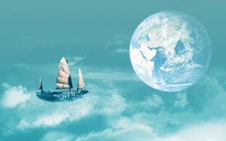 Sailing to Earth wallpapers and stock photos