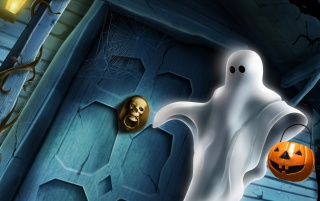 Halloween ghost wallpapers and stock photos