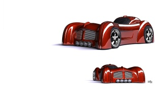 Random: Red prototype car