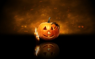 Pumpkin and candels wallpapers and stock photos