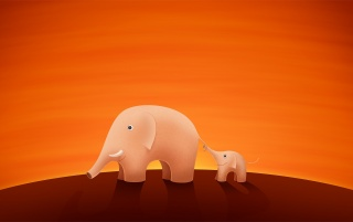 Happy Elephants wallpapers and stock photos