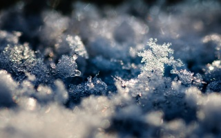 Snow Crystal Landscape wallpapers and stock photos