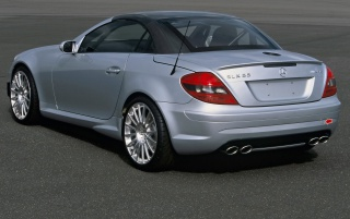 SLK 55 AMG back wallpapers and stock photos