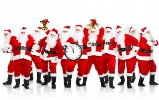 Alot of Santas wallpapers and stock photos
