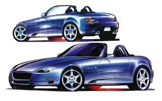 Honda S2000 blau wallpapers and stock photos