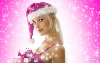 Blond Santa girl wallpapers and stock photos