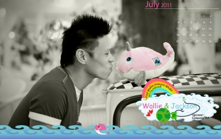 Calendar 2011 - July wallpapers and stock photos