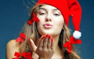 Santa Girl wallpapers and stock photos