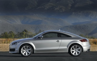 Audi TT left side wallpapers and stock photos
