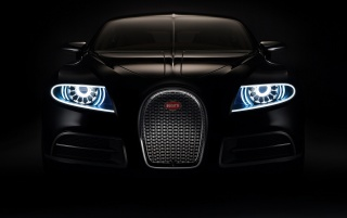 Bugatti 16c Front wallpapers and stock photos