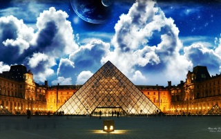 Over the Louvre wallpapers and stock photos