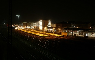 Trainstation Aschaffenburg wallpapers and stock photos