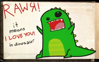 Random: I Love You in dinosaur