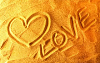 Love on the sand wallpapers and stock photos