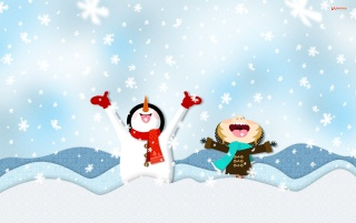 Catching Snowflakes wallpapers and stock photos