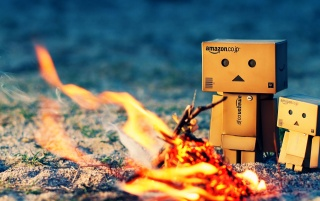 Danbo Warming Fire wallpapers and stock photos
