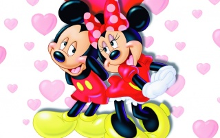 mickey and minnie wallpapers and stock photos
