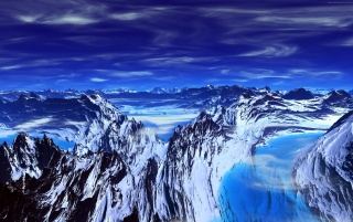 Mountains blue wallpapers and stock photos