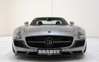Brabus SLS front wallpapers and stock photos