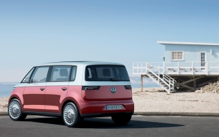 VW Bulli rear angle wallpapers and stock photos