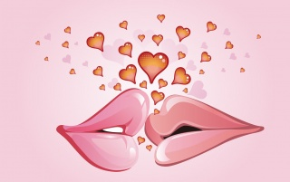 Lips kissing wallpapers and stock photos