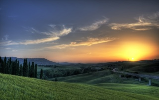 Tuscan sunset wallpapers and stock photos