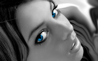 Digital blue eyes wallpapers and stock photos