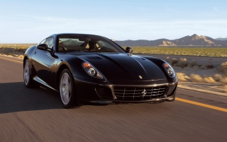 Ferrari 599 GTB black wallpapers and stock photos