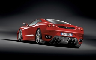 Ferrari F430 rear wallpapers and stock photos