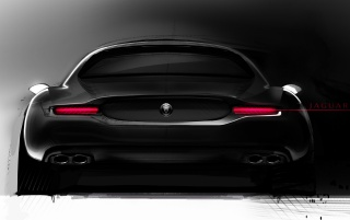 Jaguar sketch rear wallpapers and stock photos