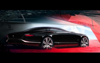 Jag sketch rear angle wallpapers and stock photos