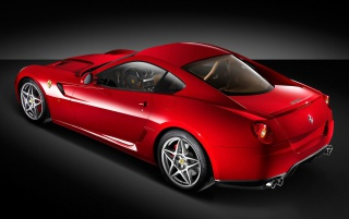 Red Ferrari 599 GTB wallpapers and stock photos