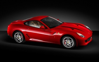 Ferrari 599 GTB left wallpapers and stock photos