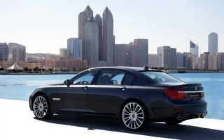 BMW 7 series rear wallpapers and stock photos
