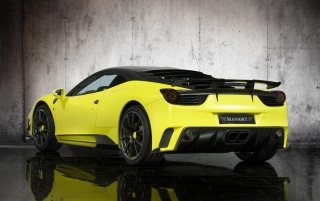 Mansory 458 rear wallpapers and stock photos