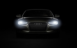 Audi A7 headlights wallpapers and stock photos