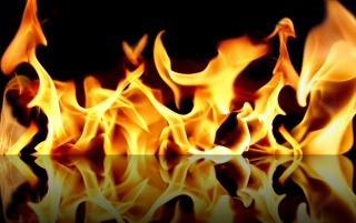 Fire reflection wallpapers and stock photos
