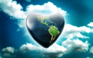 Heart shaped planet wallpapers and stock photos