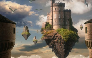 Floating castle wallpapers and stock photos