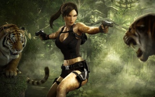 Lara Croft in Tombraider wallpapers and stock photos