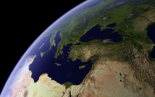 Earth from above wallpapers and stock photos