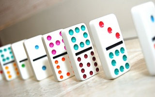 Multi Colored Dominoes wallpapers and stock photos